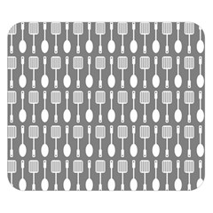 Gray And White Kitchen Utensils Pattern Double Sided Flano Blanket (small)