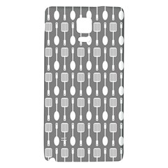 Gray And White Kitchen Utensils Pattern Galaxy Note 4 Back Case