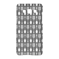 Gray And White Kitchen Utensils Pattern Samsung Galaxy A5 Hardshell Case