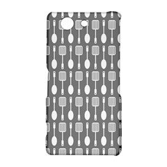 Gray And White Kitchen Utensils Pattern Sony Xperia Z3 Compact