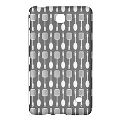 Gray And White Kitchen Utensils Pattern Samsung Galaxy Tab 4 (8 ) Hardshell Case