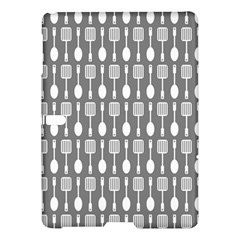 Gray And White Kitchen Utensils Pattern Samsung Galaxy Tab S (10.5 ) Hardshell Case