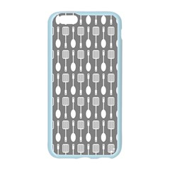 Gray And White Kitchen Utensils Pattern Apple Seamless iPhone 6 Case (Color)