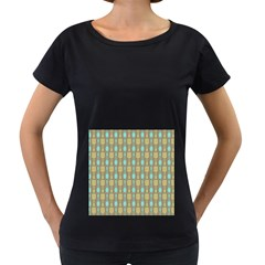 Spatula Spoon Pattern Women s Loose-Fit T-Shirt (Black)