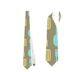 Spatula Spoon Pattern Neckties (One Side)
