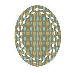 Spatula Spoon Pattern Ornament (Oval Filigree)