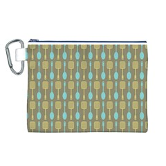 Spatula Spoon Pattern Canvas Cosmetic Bag (l)
