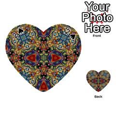 Magnificent Kaleido Design Playing Cards 54 (Heart)