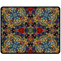 Magnificent Kaleido Design Fleece Blanket (Medium)