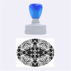 Magnificent Kaleido Design Rubber Oval Stamps
