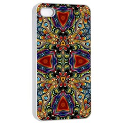 Magnificent Kaleido Design Apple iPhone 4/4s Seamless Case (White)