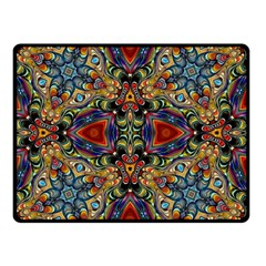 Magnificent Kaleido Design Double Sided Fleece Blanket (Small)