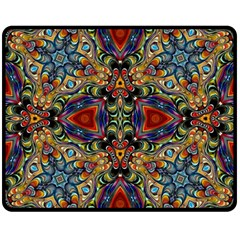 Magnificent Kaleido Design Double Sided Fleece Blanket (Medium)