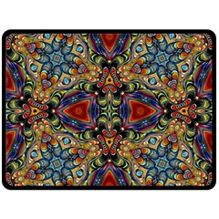 Magnificent Kaleido Design Double Sided Fleece Blanket (large)