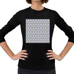 Spatula Spoon Pattern Women s Long Sleeve Dark T Shirts
