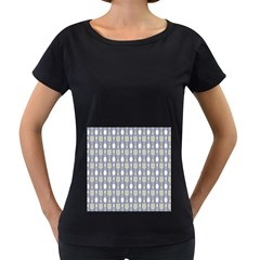 Spatula Spoon Pattern Women s Loose-Fit T-Shirt (Black)