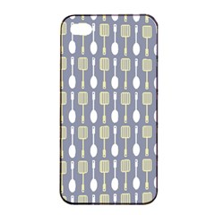Spatula Spoon Pattern Apple iPhone 4/4s Seamless Case (Black)