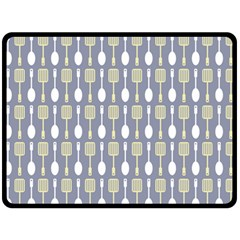 Spatula Spoon Pattern Double Sided Fleece Blanket (Large)