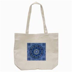 Awesome Kaleido 07 Blue Tote Bag (cream)