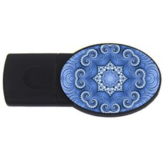Awesome Kaleido 07 Blue Usb Flash Drive Oval (4 Gb)