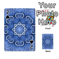 Awesome Kaleido 07 Blue Playing Cards 54 Designs