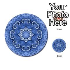 Awesome Kaleido 07 Blue Multi Purpose Cards (round)