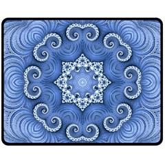 Awesome Kaleido 07 Blue Fleece Blanket (Medium)