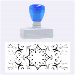 Awesome Kaleido 07 Blue Rubber Stamps (large)