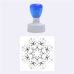 Awesome Kaleido 07 Blue Rubber Round Stamps (medium)