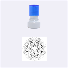 Awesome Kaleido 07 Blue Rubber Round Stamps (small)