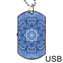 Awesome Kaleido 07 Blue Dog Tag USB Flash (Two Sides)