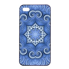 Awesome Kaleido 07 Blue Apple iPhone 4/4s Seamless Case (Black)