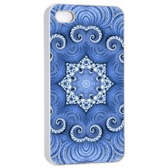 Awesome Kaleido 07 Blue Apple Iphone 4/4s Seamless Case (white)