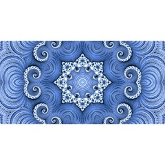 Awesome Kaleido 07 Blue YOU ARE INVITED 3D Greeting Card (8x4)