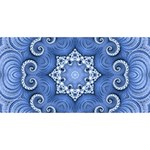 Awesome Kaleido 07 Blue Congrats Graduate 3D Greeting Card (8x4)  Back