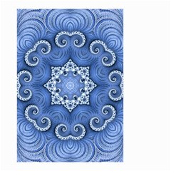 Awesome Kaleido 07 Blue Small Garden Flag (Two Sides)
