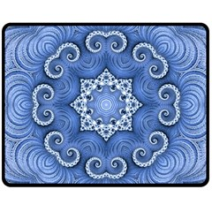 Awesome Kaleido 07 Blue Double Sided Fleece Blanket (Medium)