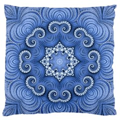 Awesome Kaleido 07 Blue Standard Flano Cushion Cases (one Side)