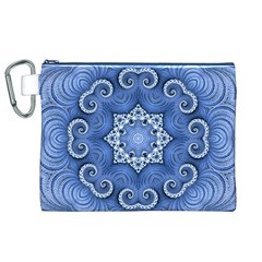 Awesome Kaleido 07 Blue Canvas Cosmetic Bag (XL)