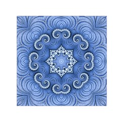 Awesome Kaleido 07 Blue Small Satin Scarf (Square)