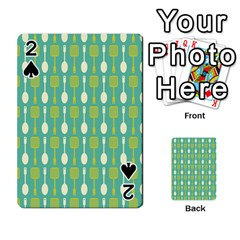 Spatula Spoon Pattern Playing Cards 54 Designs