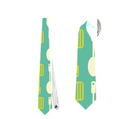 Spatula Spoon Pattern Neckties (Two Side)