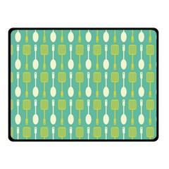 Spatula Spoon Pattern Fleece Blanket (small)