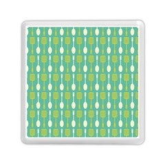 Spatula Spoon Pattern Memory Card Reader (Square)