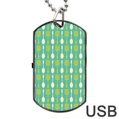 Spatula Spoon Pattern Dog Tag USB Flash (One Side)