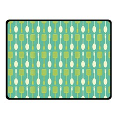 Spatula Spoon Pattern Double Sided Fleece Blanket (Small)