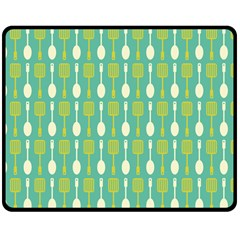 Spatula Spoon Pattern Double Sided Fleece Blanket (Medium)