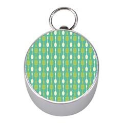 Spatula Spoon Pattern Mini Silver Compasses