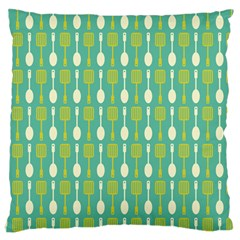 Spatula Spoon Pattern Large Flano Cushion Cases (one Side)