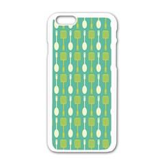 Spatula Spoon Pattern Apple Iphone 6 White Enamel Case